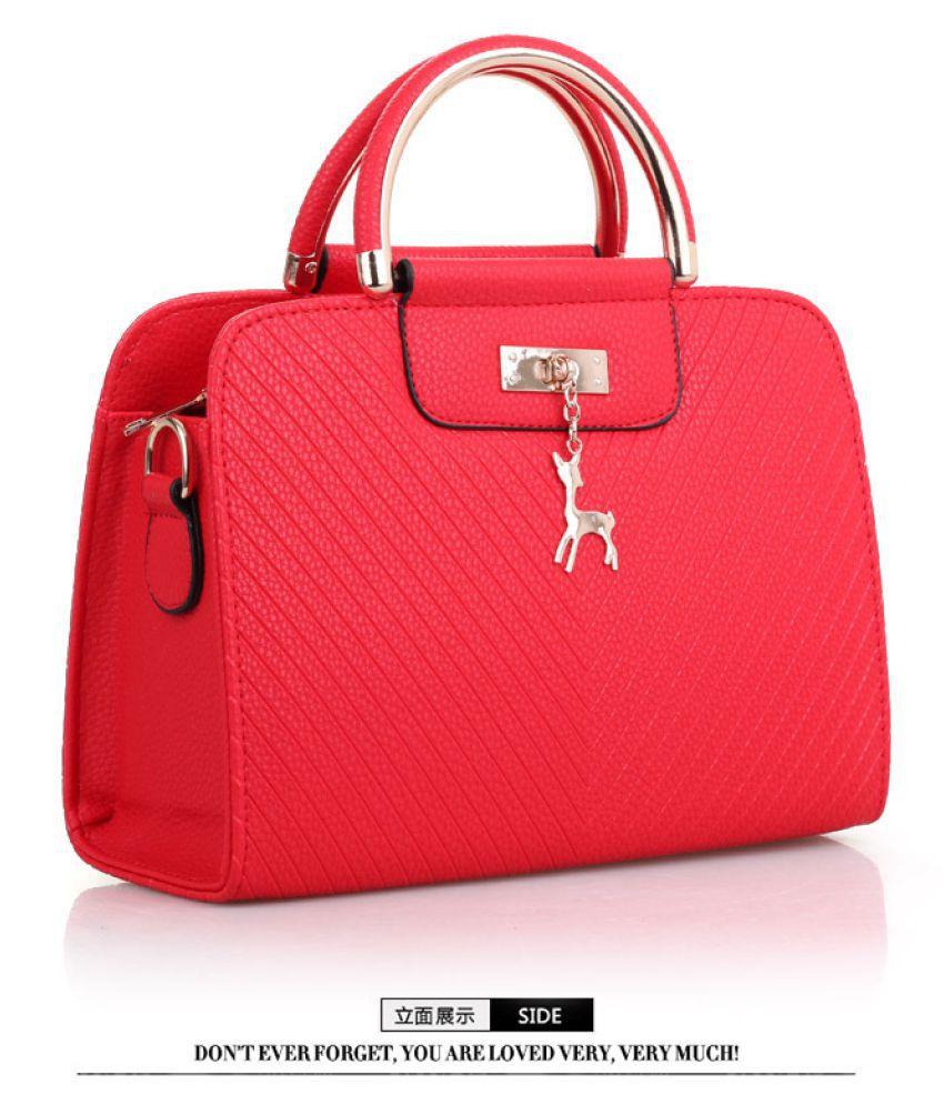 Levaso Red Pure Leather Crossbody