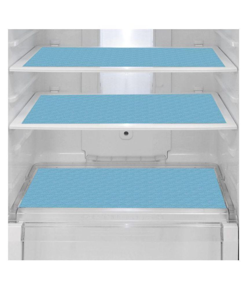 Delfe Set of 6 PVC Blue Fridge Mats