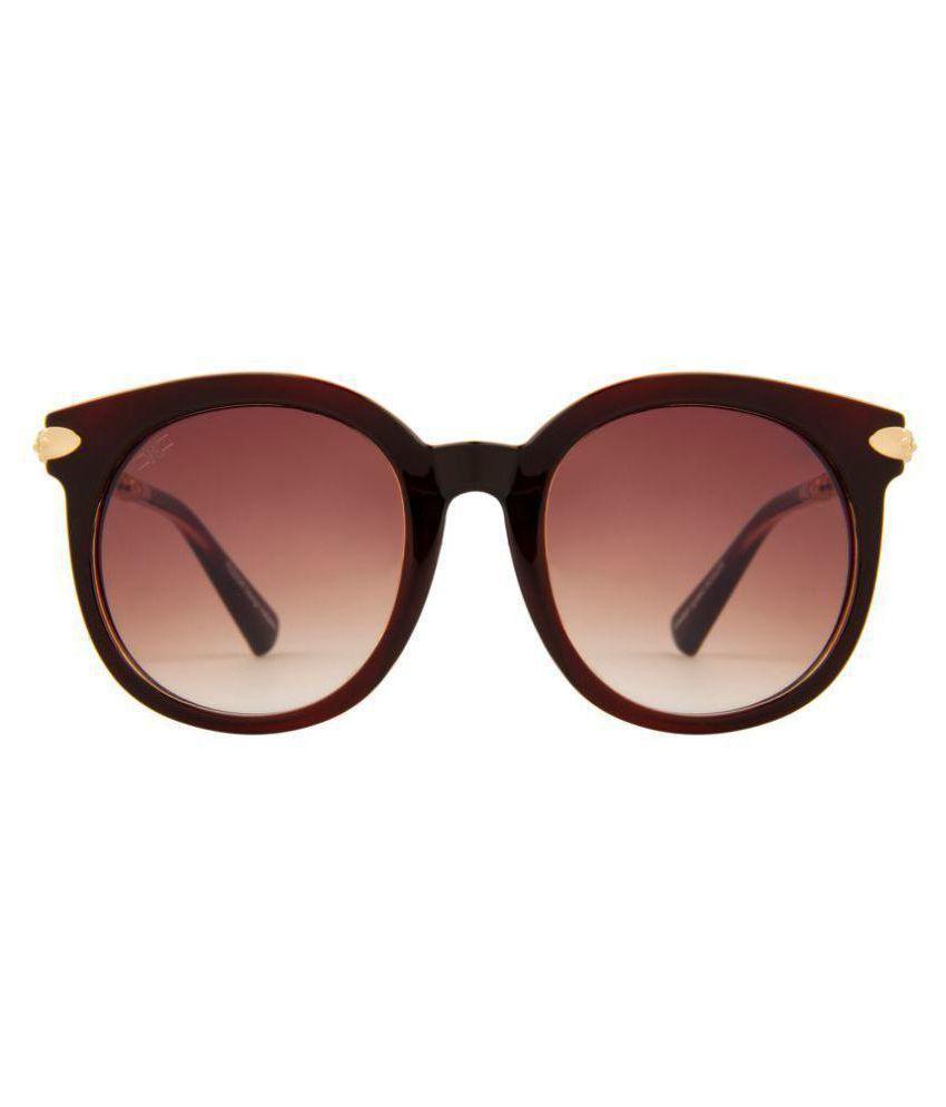 ROZIOR Brown Round Sunglasses ( U2129C30 )