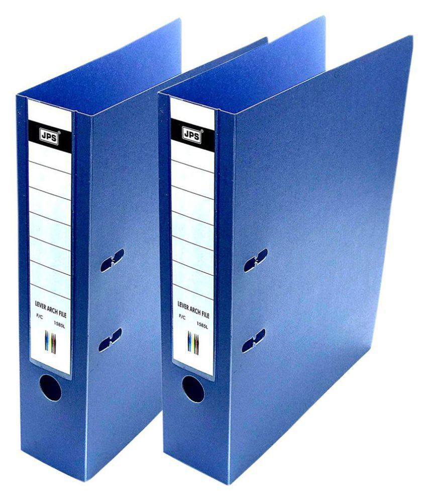 2-Pack Box File 2 D Ring Lever Arch FC Polymer Executive/Corporate File – Blue