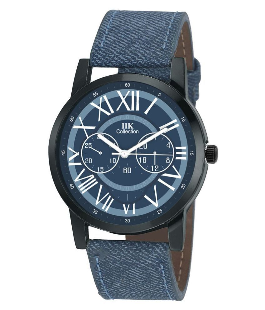 IIK COLLECTION 953 Leather Analog Men #039;s Watch