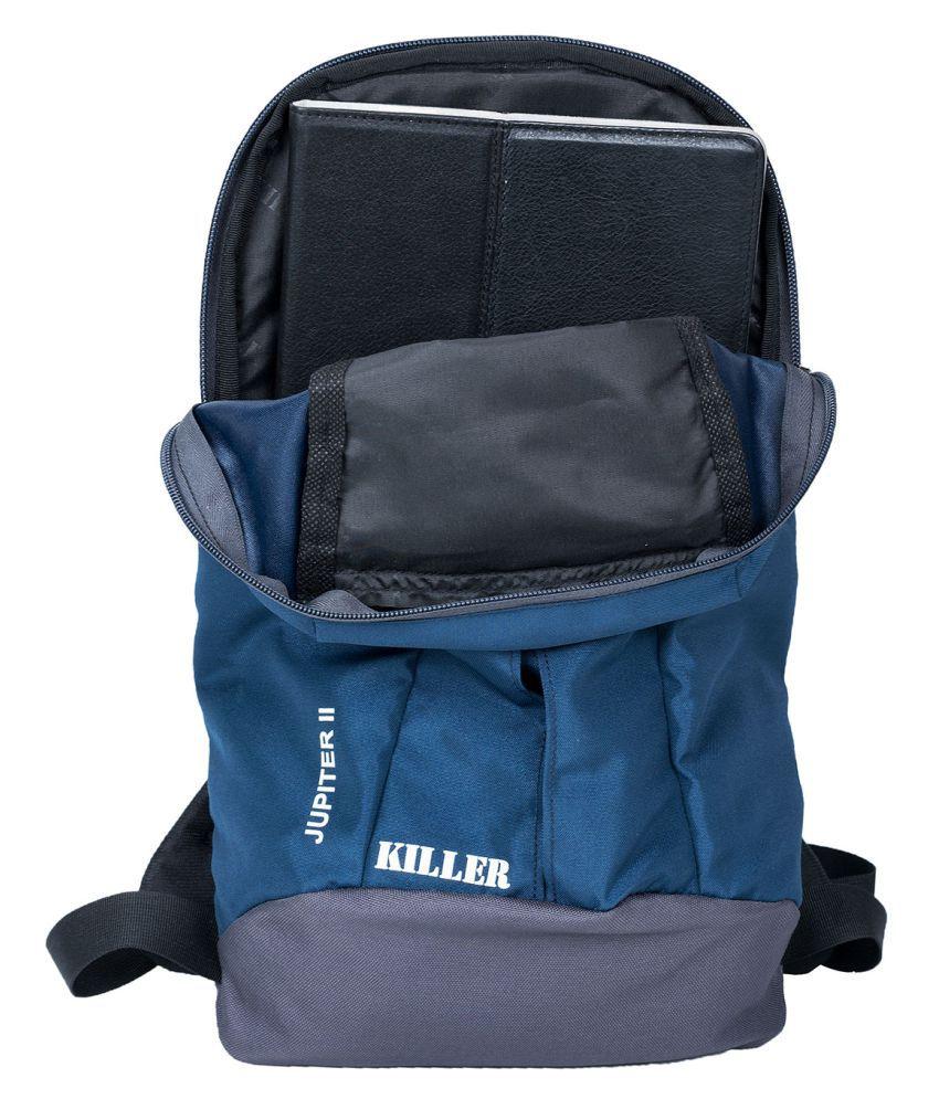 killer bag college bag navy backpack 10 12 litre buy killer bag college bag navy backpack 10. Black Bedroom Furniture Sets. Home Design Ideas