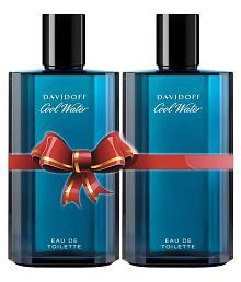 Davidoff Cool Water Men's EDT Perfume- 125 ml (Pack of 2)