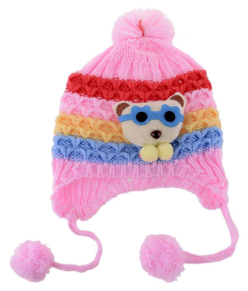 Shop Frenzy Kids Woolen Winter Soft caps for Baby boy Baby Girl ... 86b5ac6db81