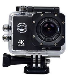 WILES Waterproof Sports Action Camera - 4K Ultra HD 1920 x 1080 (Full HD): 30p / 25p / 24p) MP Video Camera