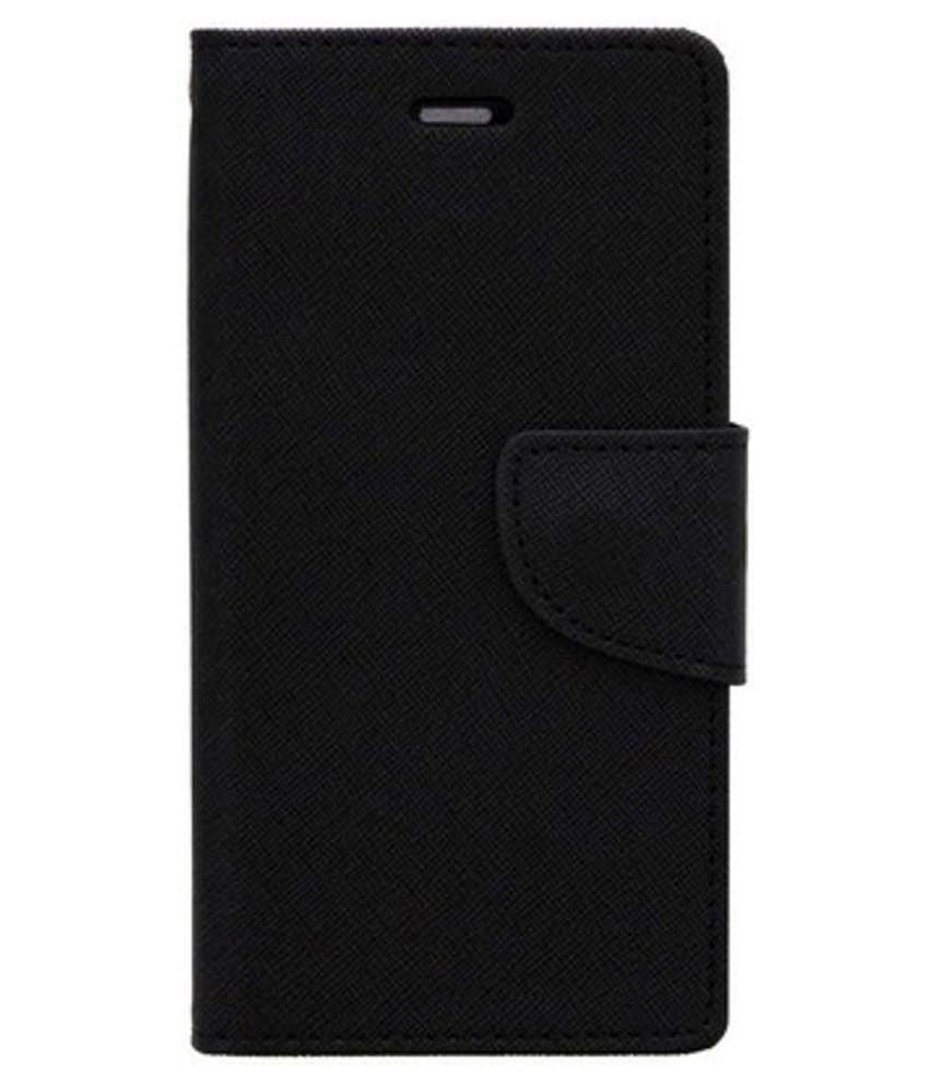 Huawei Honor 6 Flip Cover by Kosher Traders - Black Premium Mercury