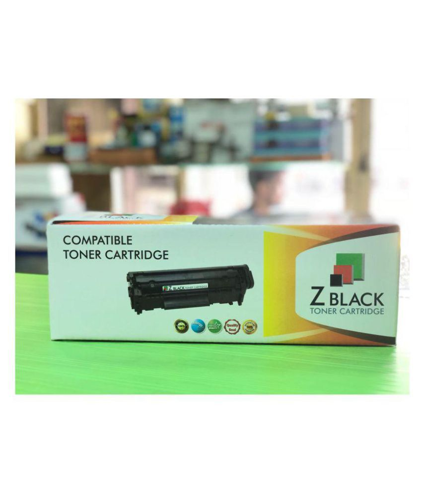 zblack CB436A/36A Toner Cartridge Black Single