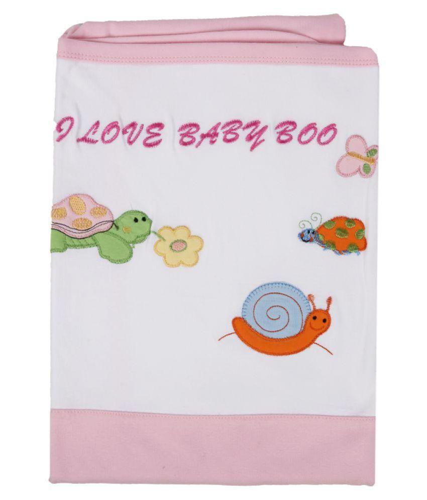 Baby Boo White Cotton Baby Wrap cum blanket ( 45 cm × 2 cm - 1 pcs)