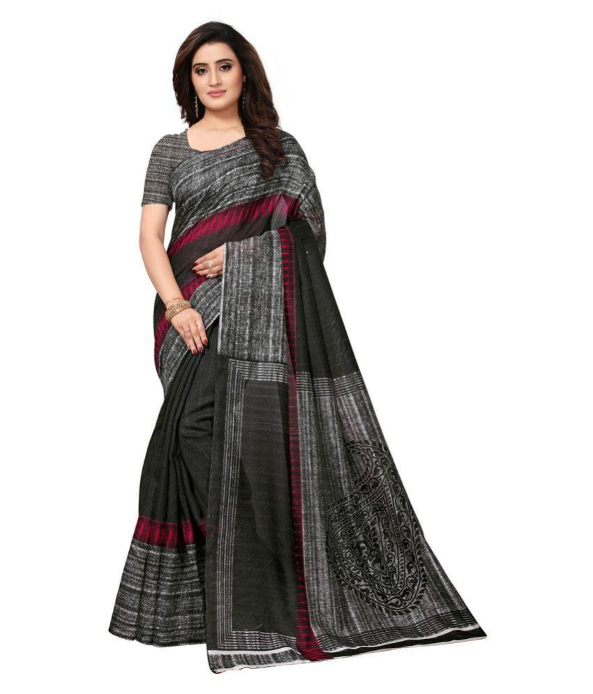 Swaron Black Bangalore Silk Saree