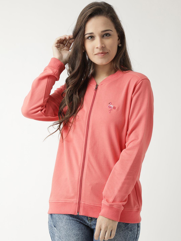 Club York Cotton Pink Non Hooded Sweatshirt