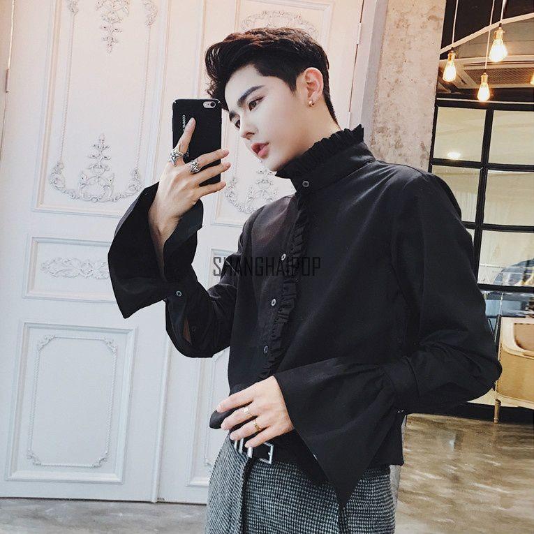 Haorun Black Full Sleeve T-Shirt