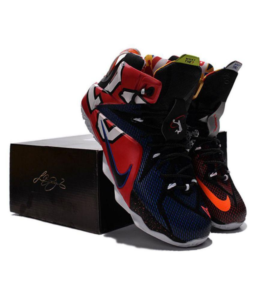 low priced 202f1 835b5 Nike LEBRON 12 Multi Color Basketball Shoes