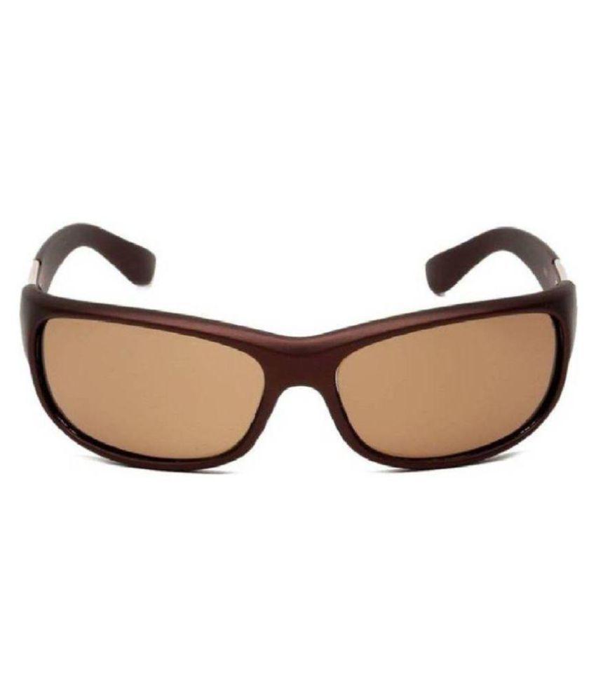 TAG SKY Brown Wrap Around Sunglasses ( TS003 )