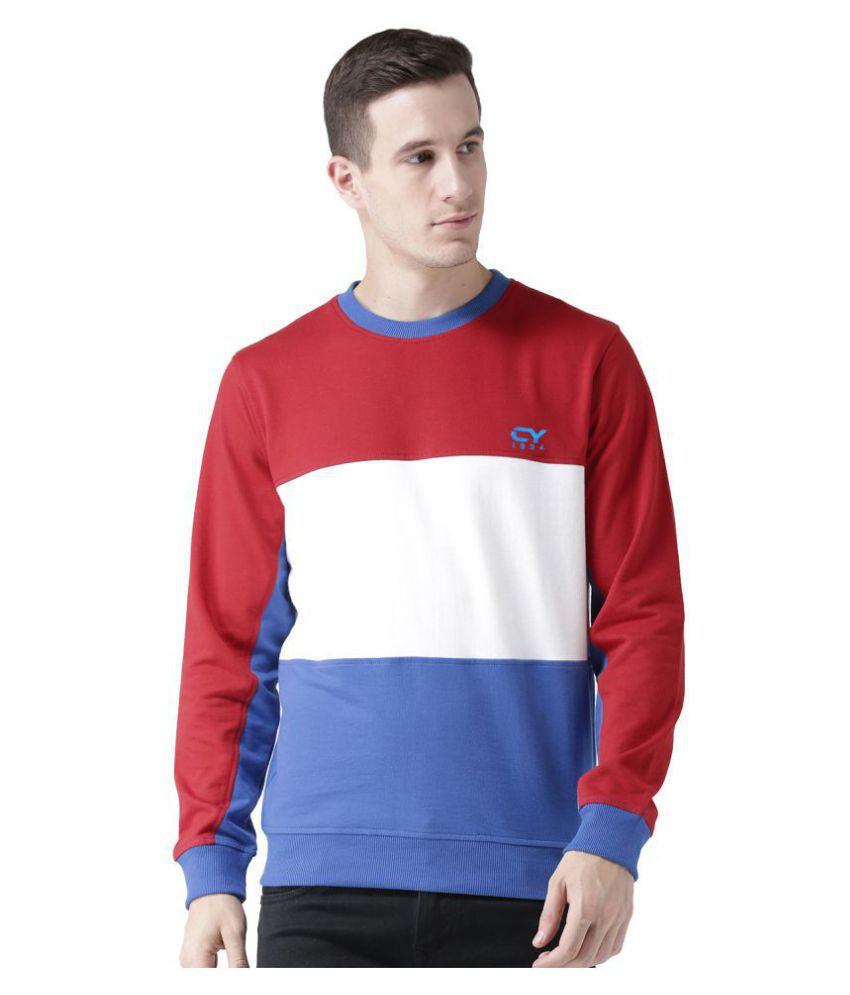 Club York Red Round Sweatshirt