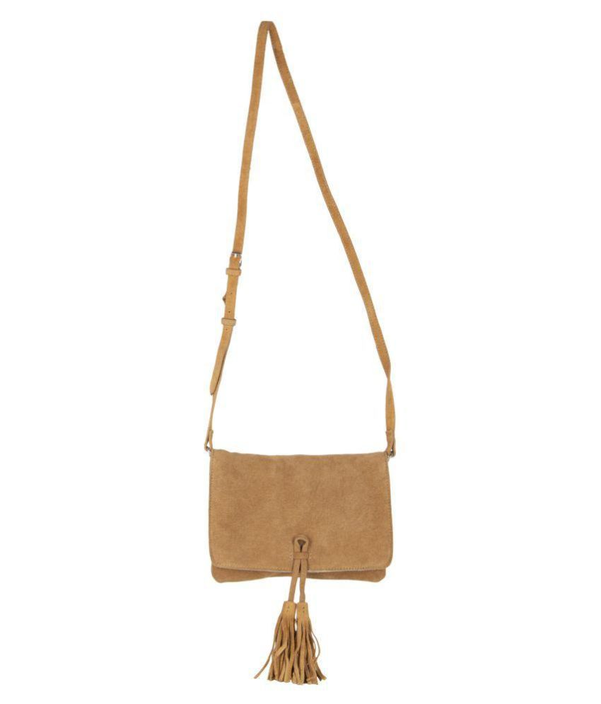 Aspen Leather Tan Leather Casual Messenger Bag