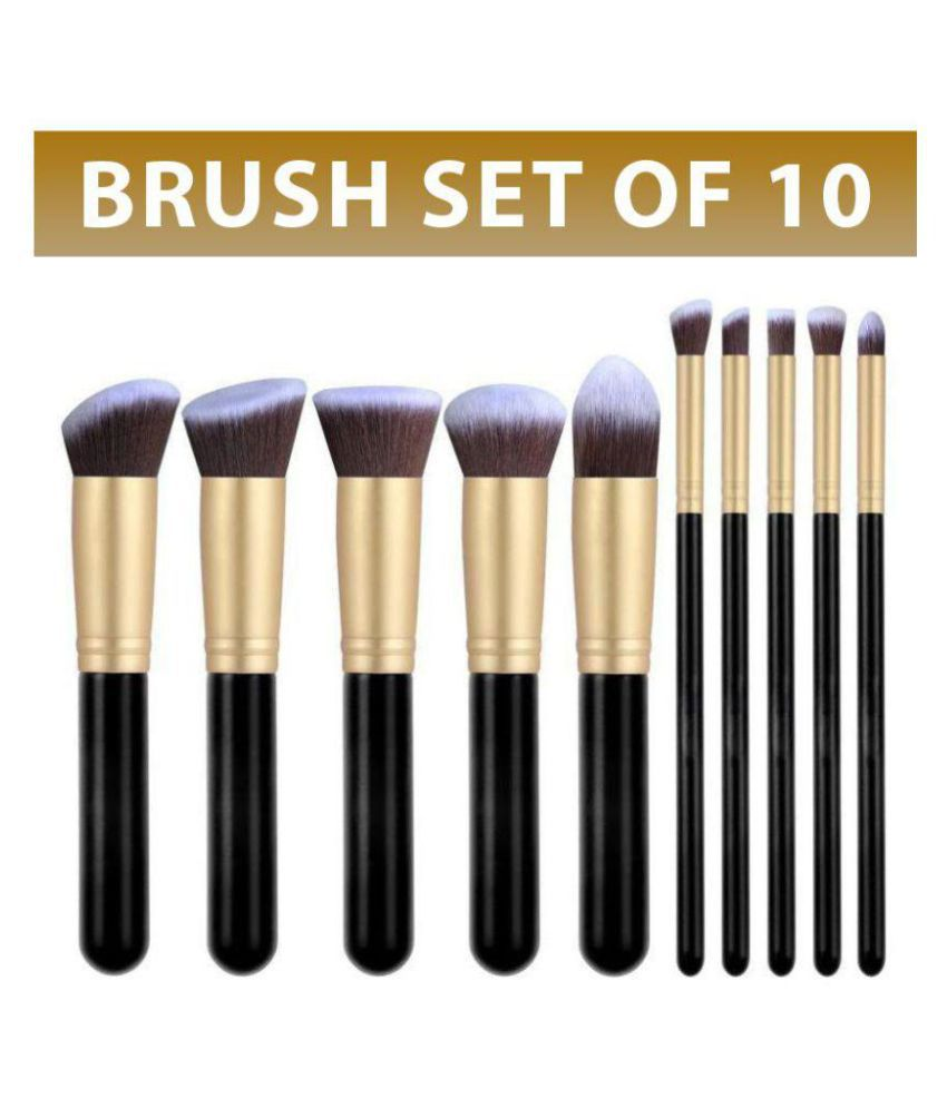 Forever 21 Synthetic Makeup Brush (Set of 10 Pcs): Buy Forever 21 Synthetic Makeup Brush (Set of 10 Pcs) at Best Prices in India - Snapdeal