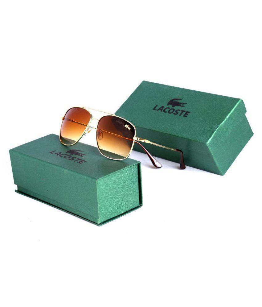 LACOSTE SUNGLSS Brown Aviator Sunglasses ( 1I )