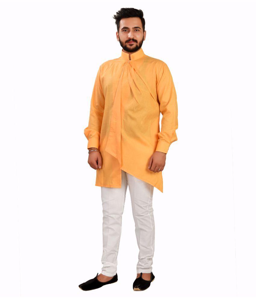 SG LEEMAN Optical White Cotton Kurta Pyjama Set Pack of 2
