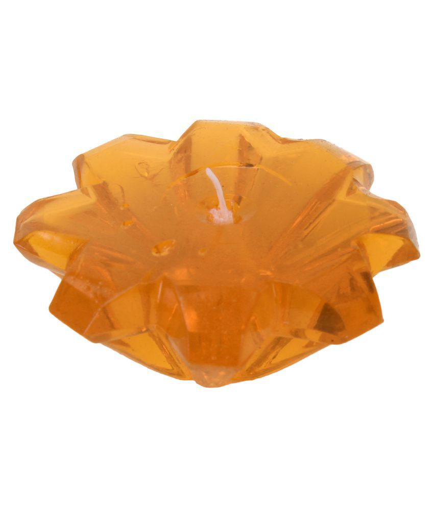 SPAVEDA Orange Floating Candle   Pack of 6