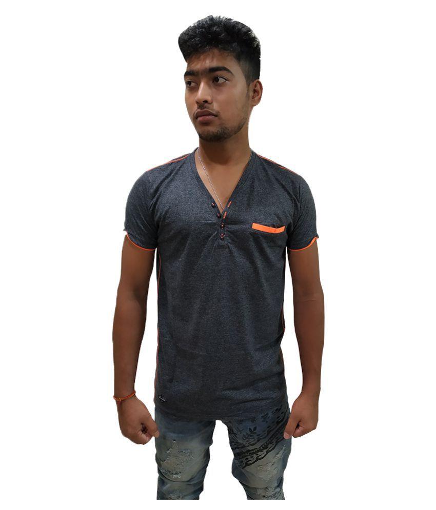 Purple Square Black Half Sleeve T-Shirt Pack of 1