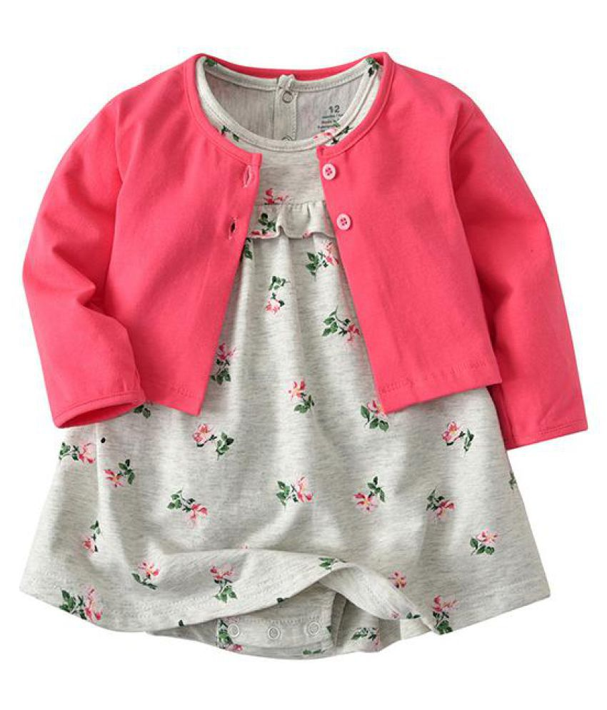 c2ca6b11a42 2pcs Floral Baby Girls Romper Dresses with Coat Clothing Set For 0-36M - Buy  2pcs Floral Baby Girls Romper Dresses with Coat Clothing Set For 0-36M  Online ...