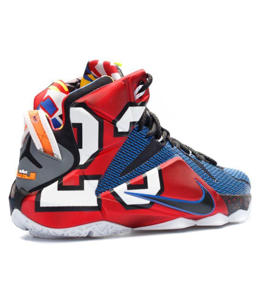 sports shoes e7418 1bdc1 Nike Lebron 12 Phantom Multi Color Basketball Shoes - Buy ...