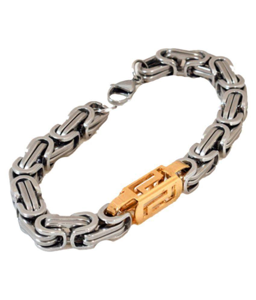 Sakshi Silver Stainless Steel Bracelets