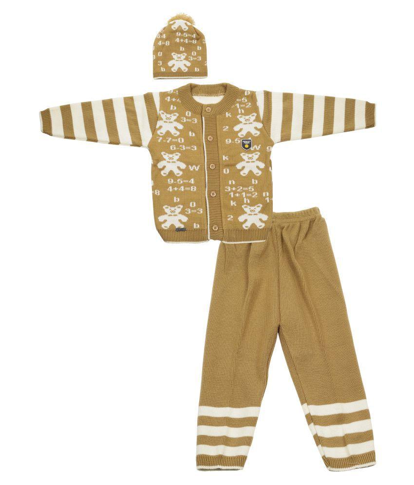 Baby Boy Winter Beige Party Wear Woollen Set (SMWBTED006BEI20)