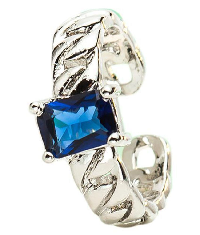 Women Fashion Vintage Style Single Double Chain Square Zircon Ring