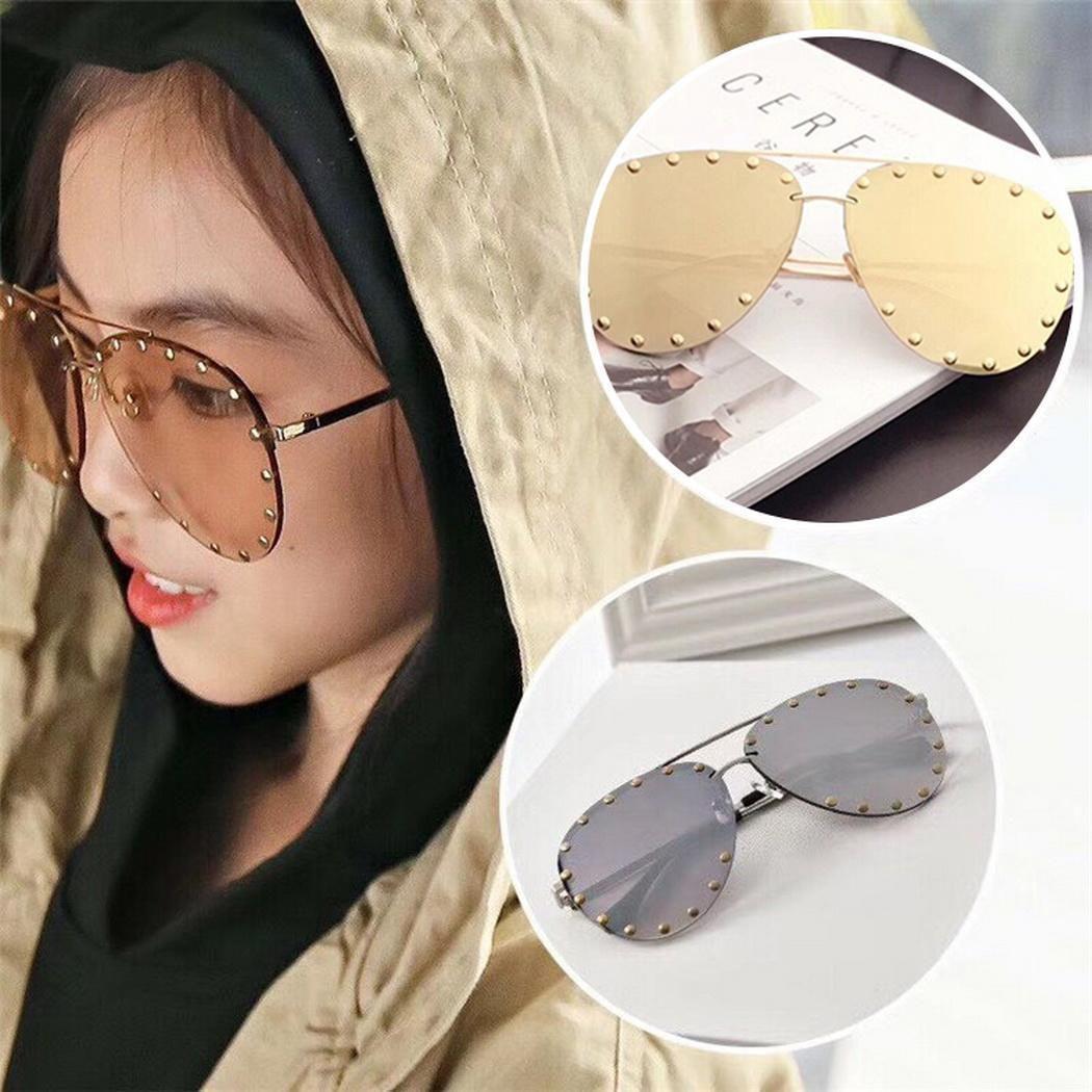 649f5abcca7 ... Red Lens Design Men Women s Sunglasses For Rivet Metal Frame  Transparent Glasses