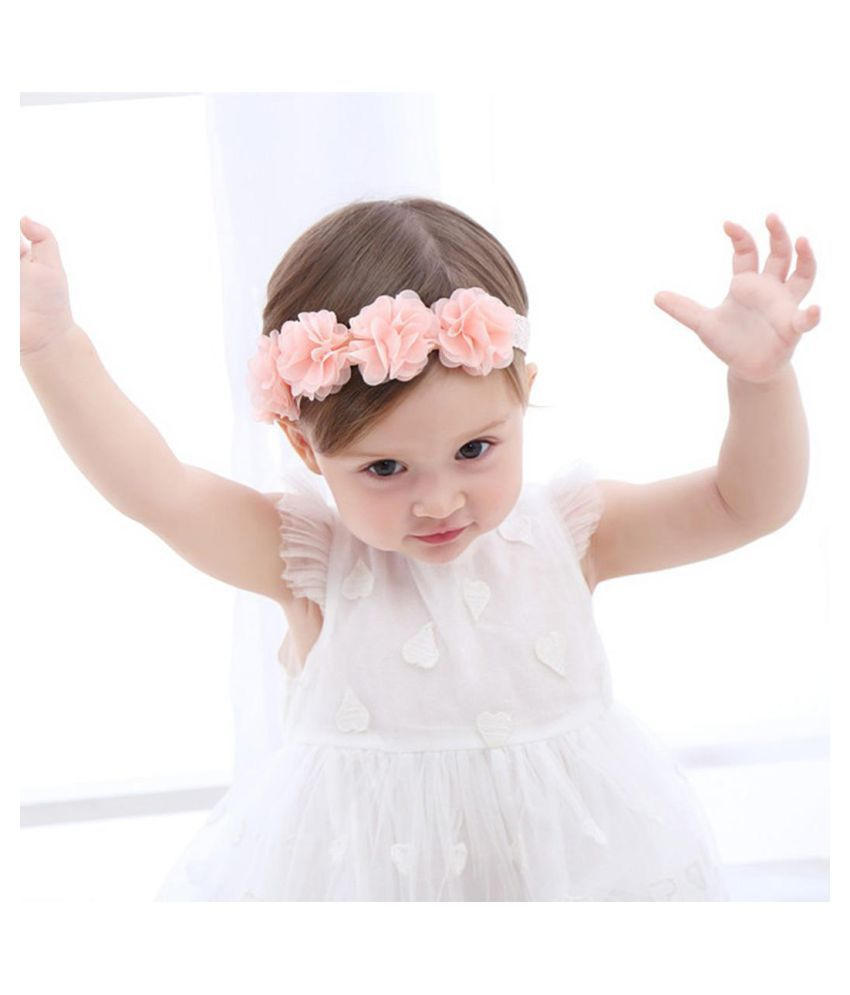 new baby girls baptism headbands infant toddler christening