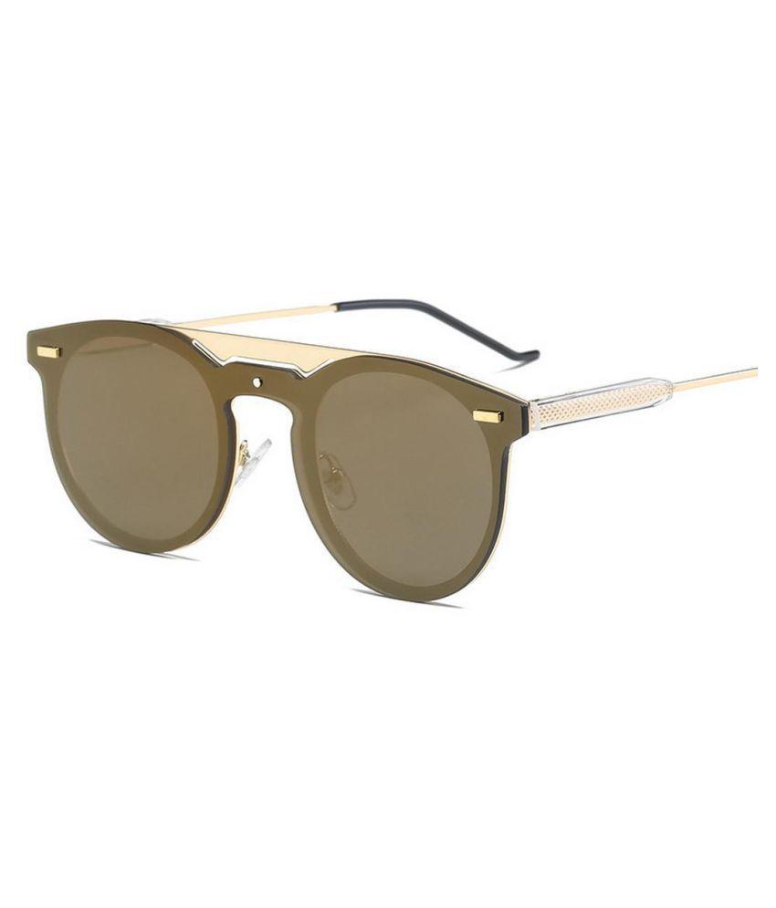 Women Fashion Metal Frame Sunglasses UV Protection Coating Mirror Sunglasses