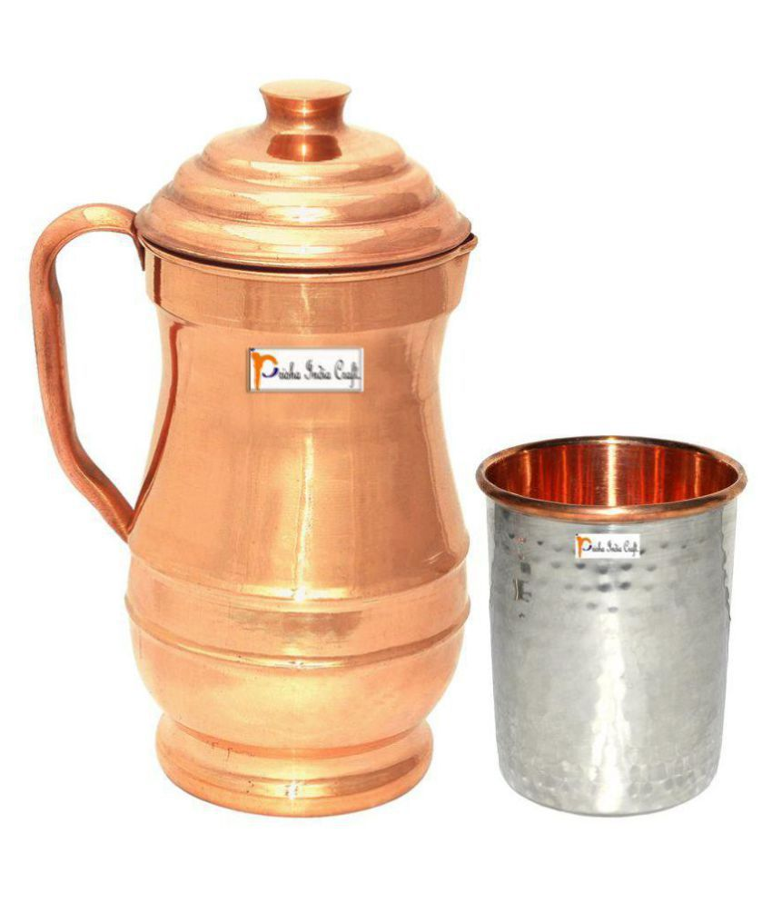 Prisha India Craft Pcs Jug and Glass Combo