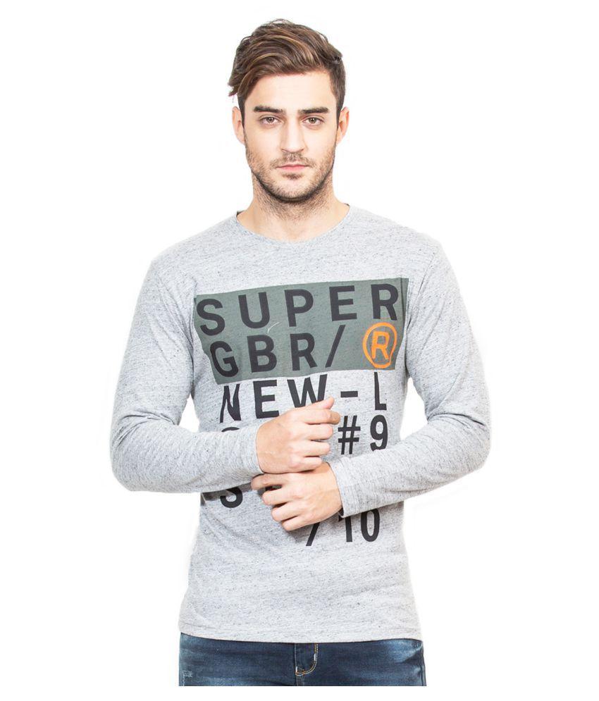 Global Republic Grey Half Sleeve T-Shirt