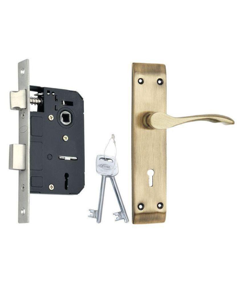 Spider Steel Mortice Key Lock Complete Set With Matt Antique Brass Finish (S214MMAB + RML4)