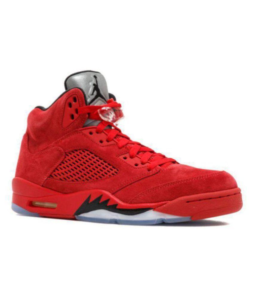 watch f8a72 99432 Nike AIR JORDAN 5 RETRO NEW Red Basketball Shoes