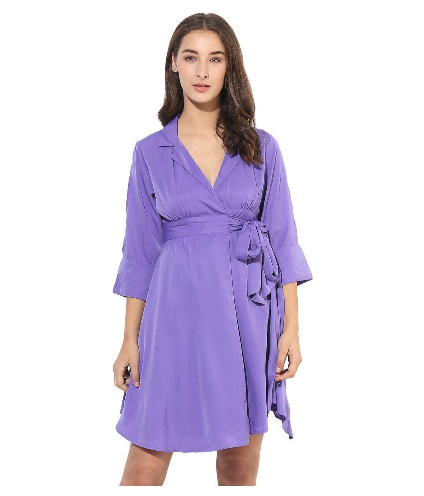 HEATHER HUES Polyester Blue Sheath Dress