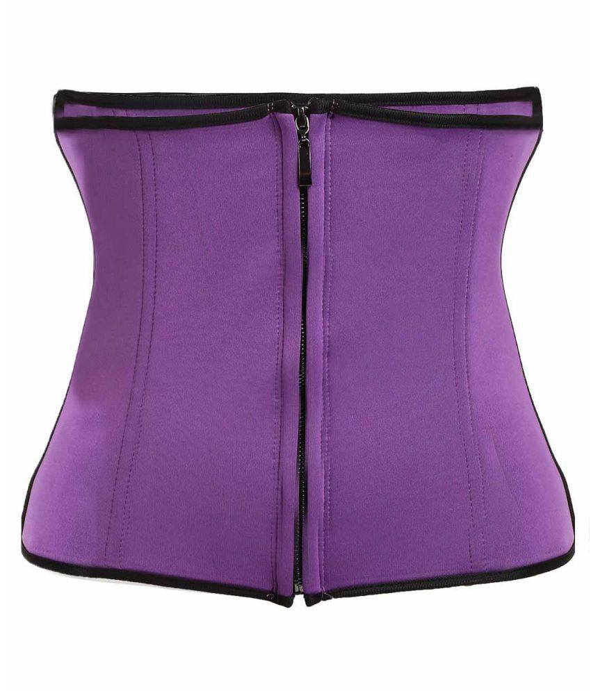 6ba8dfb2689 Buy Corset Body Shaper Latex Rubber Waist Trainer Underbust Zipper Slimming  Cincher Online at Best Prices in India - Snapdeal