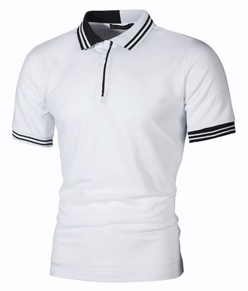 Mens Striped Collor Golf Shirt Short Sleeve Spring Summer Casual Cotton Tops