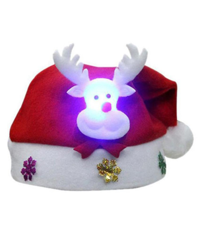 b95d4f74523e5 Woohill 1 PCS Kids Christmas Reindeer Hat Antlers Santa Claus Light  Headdress Party Decrotion Gifts for Children  Buy Online at Low Price in  India - ...