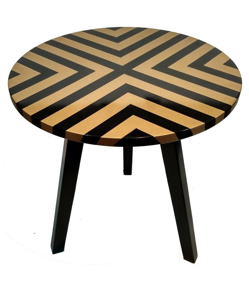 Hennings 3 Leg Side/ End Table - Gold.
