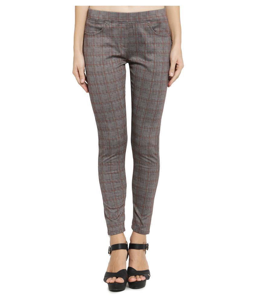 Westwood Cotton Lycra Jeggings - Brown