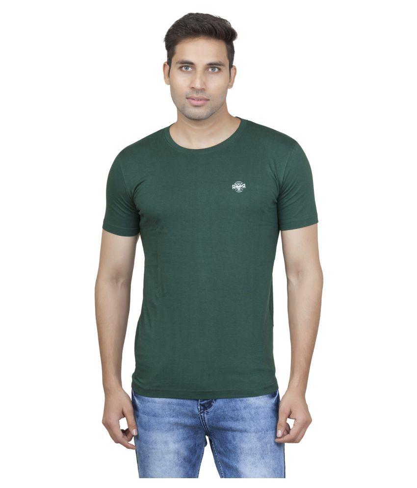 ROAD ROCKERS Green Half Sleeve T-Shirt Pack of 1