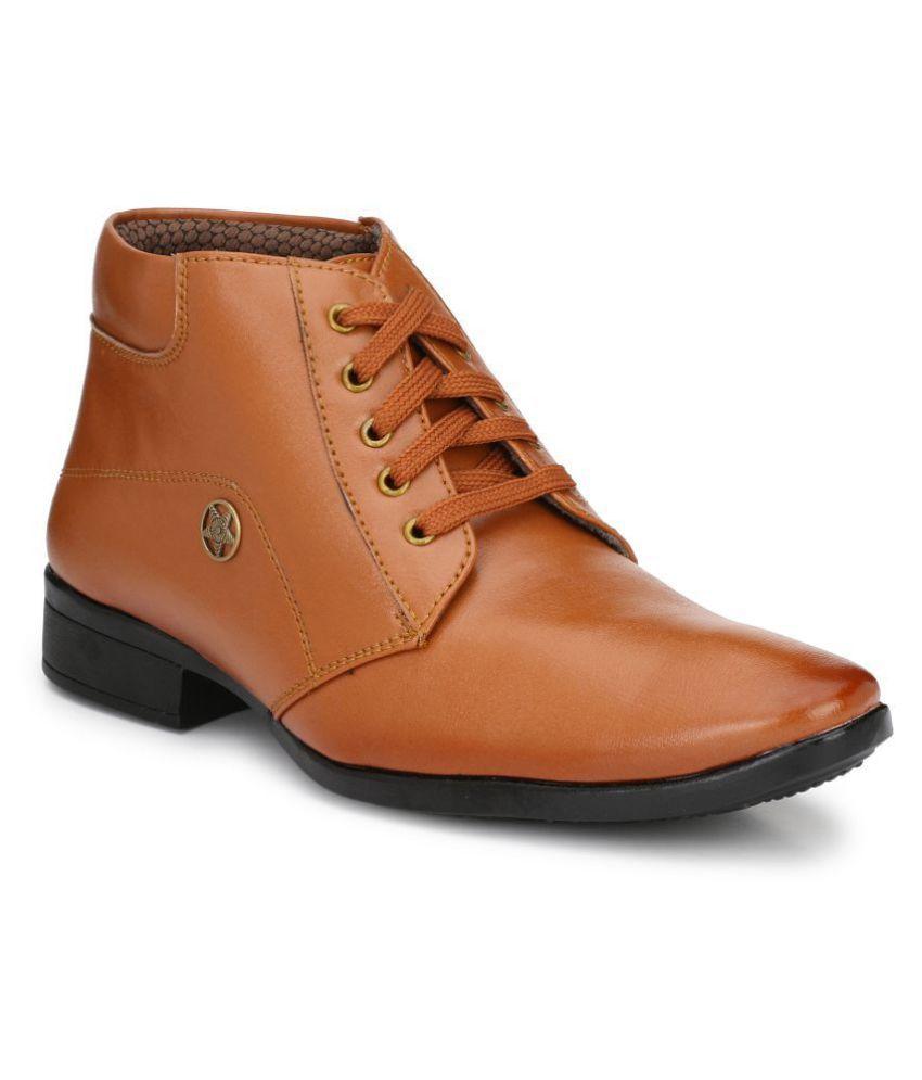 SWAG ONN Tan Formal Boot