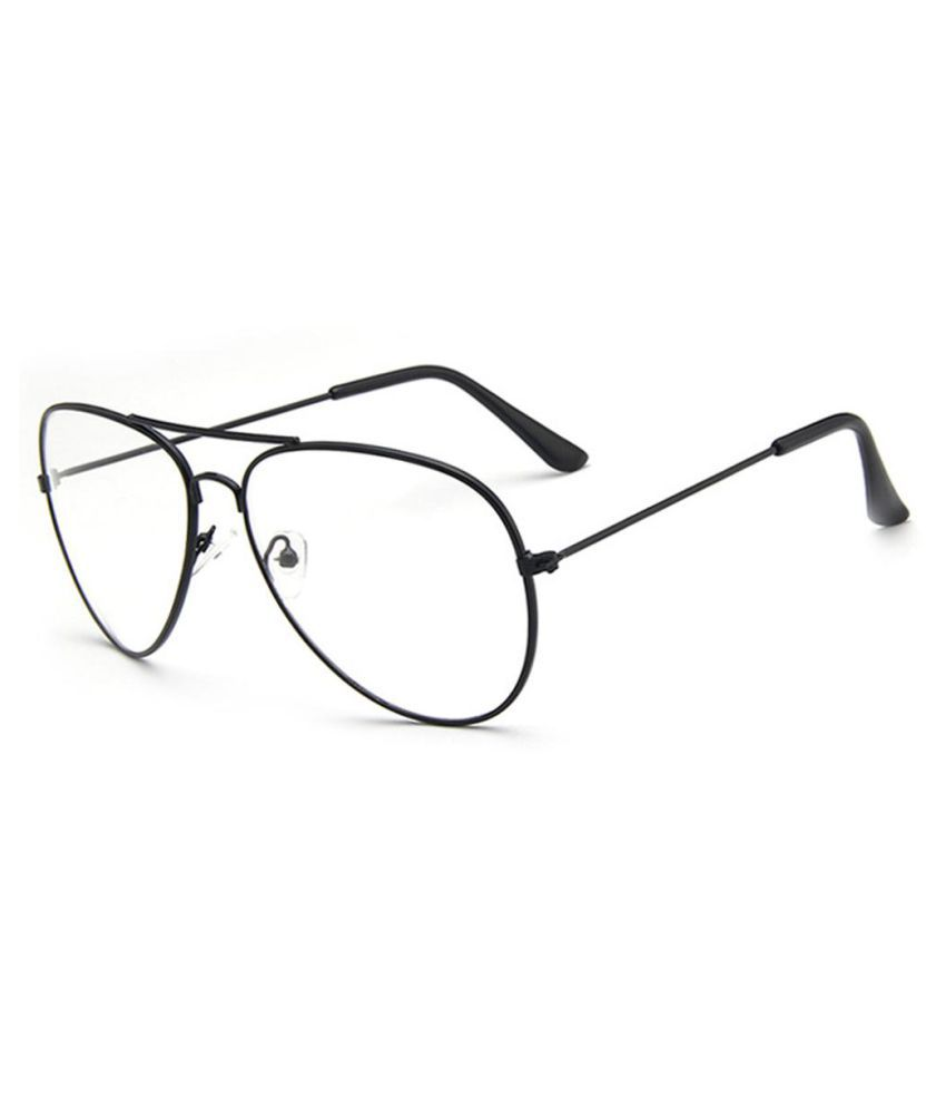 Unisex Retro Big Round Metal Frame Clear Lens Glasses Eyeglasses Spectacles
