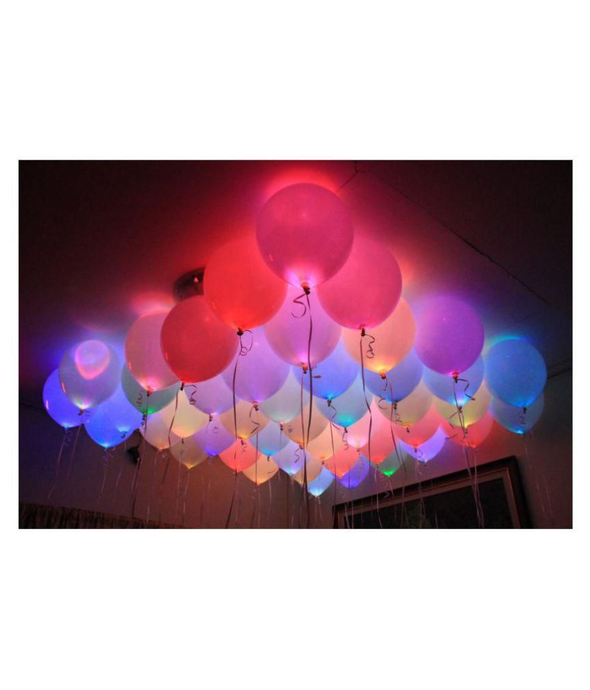 Junos Party Decor LED Balloons for Party Decoration- Pack Of 15 - decorative light