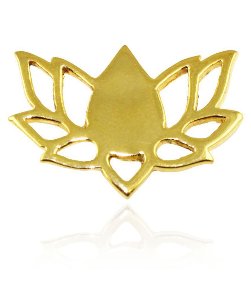 G Vogue Casual Lotus Bjp Symbol Party Logo Brooch Badge Ideal For