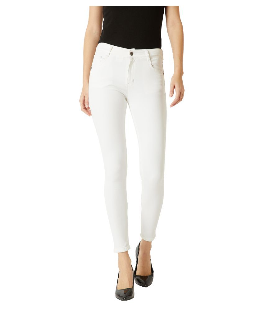 Miss Chase Cotton Jeans - White