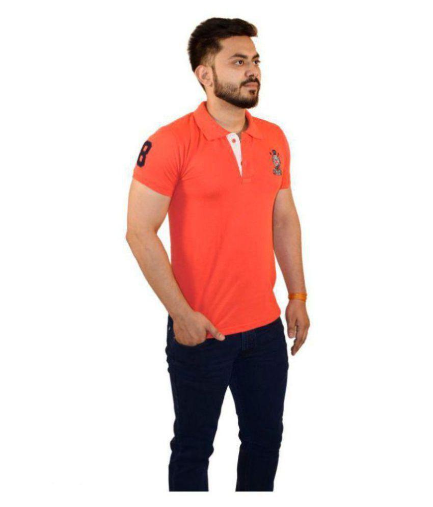 Sparky Orange Half Sleeve T-Shirt