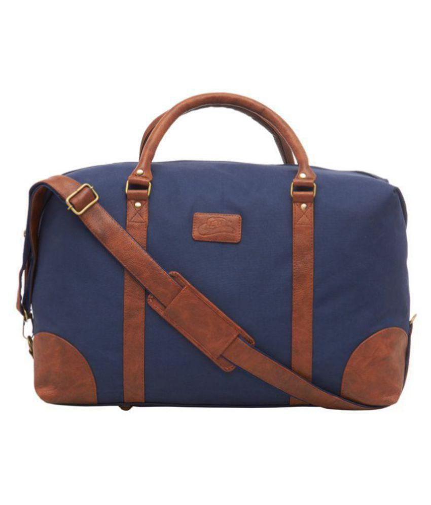 Leather World Blue Solid Duffle Bag - Buy Leather World Blue Solid Duffle  Bag Online at Low Price - Snapdeal eec6bdc03966